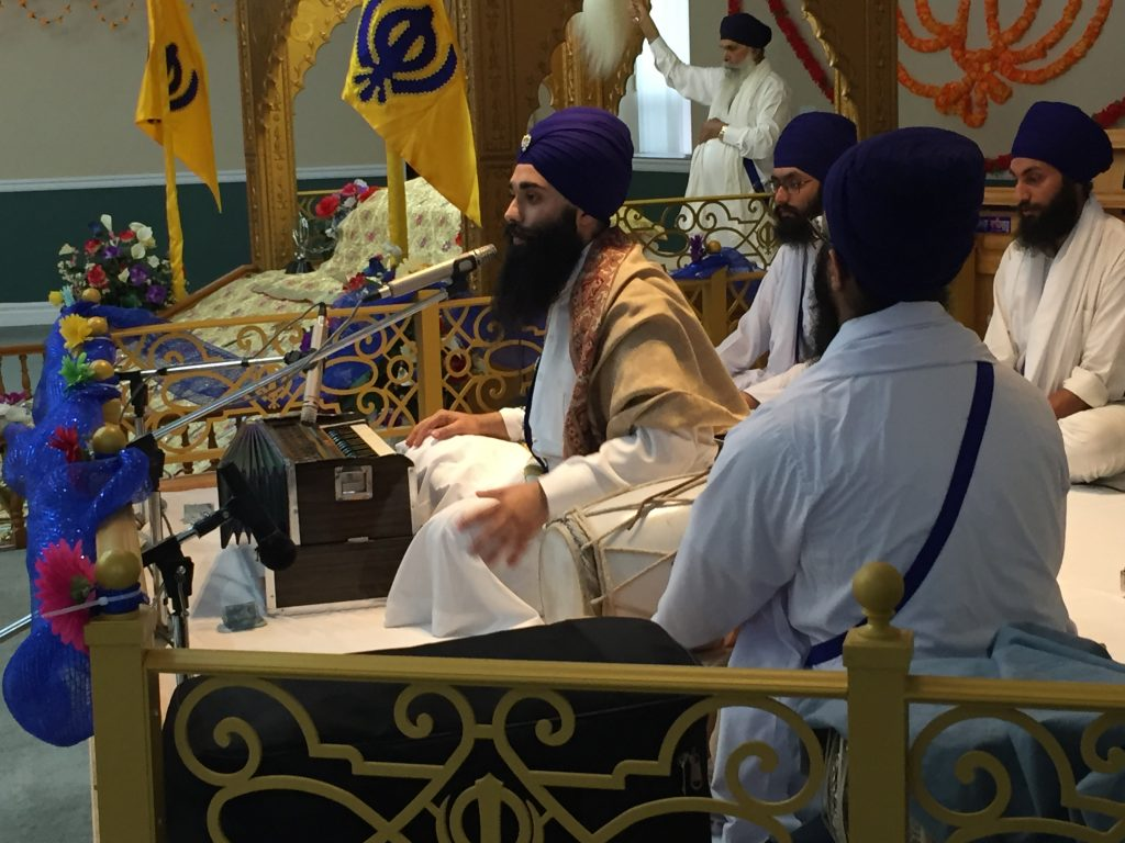 Bhai Harinder Singh and band address the youth at Guru Nanak Darbar temple in Prince George, B.C.