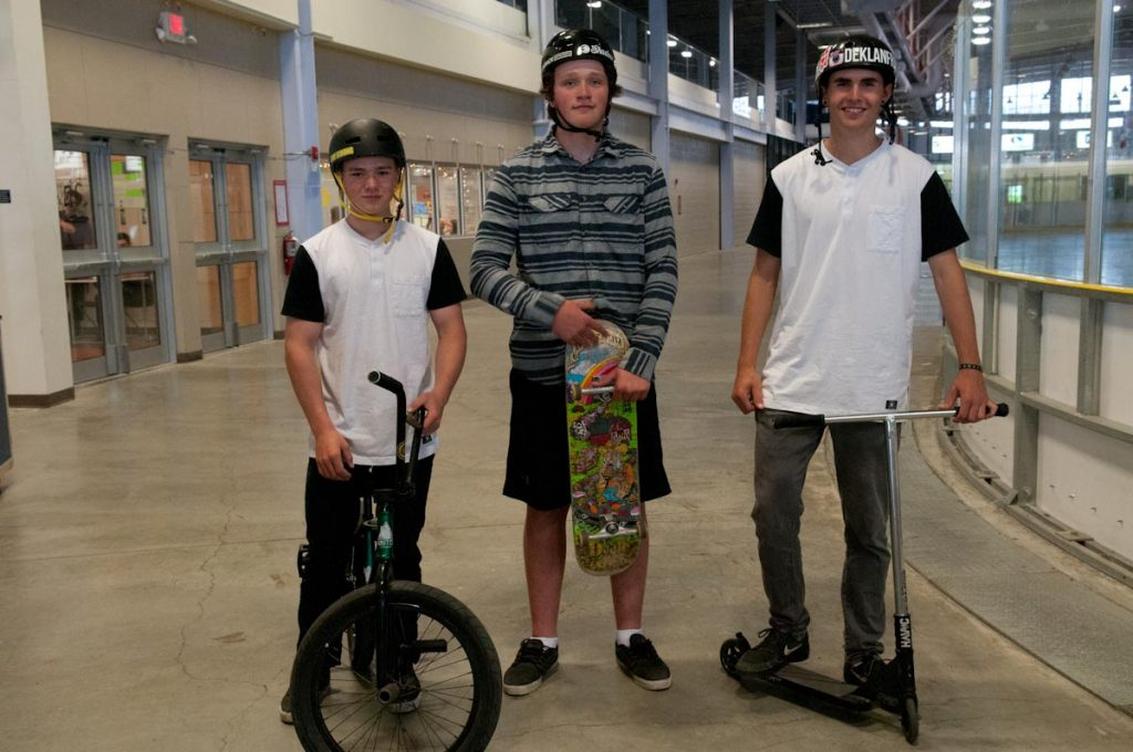 Nick Young, Deklan Franklin and Jackson Tegart want to see an indoor skate park built in Fort St. John so skaters, scooters, and bike riders have an all-weather place to ride.
